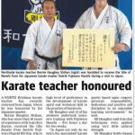 AGKK – Australian GoJu Kai Karate - Karate Teacher Honoured