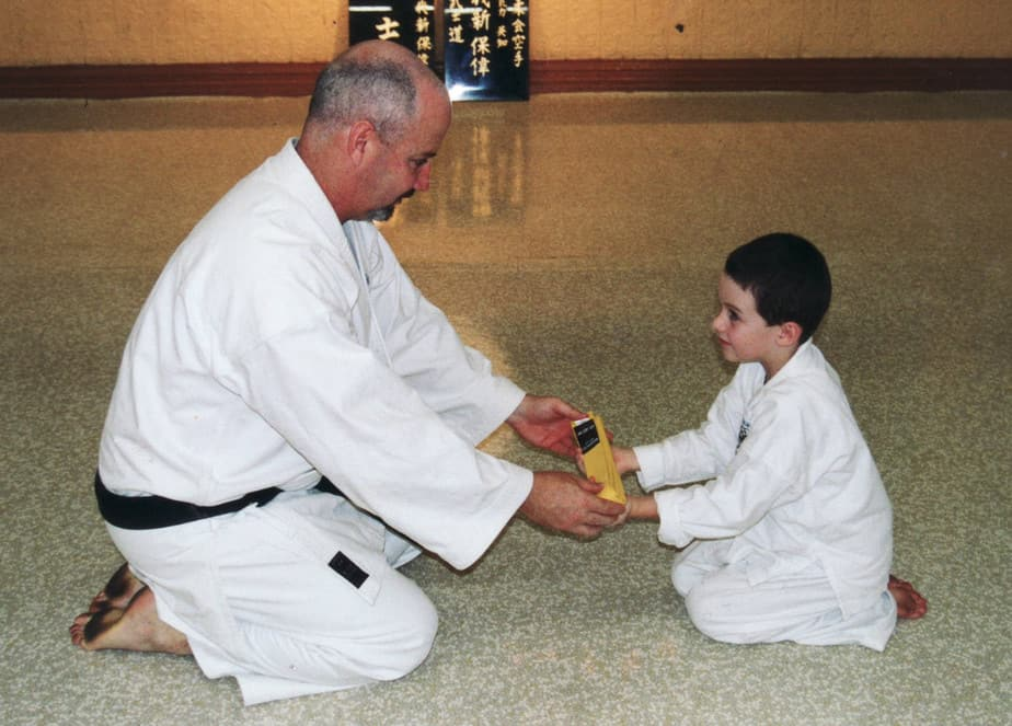 AGKK – Australian GoJu Kai Karate - Receiving Yellow Belt