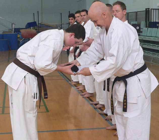 AGKK – Australian GoJu Kai Karate - Receiving Black Belt