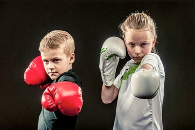 Children Practicing Self Defence