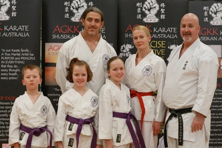 Family Karate Training