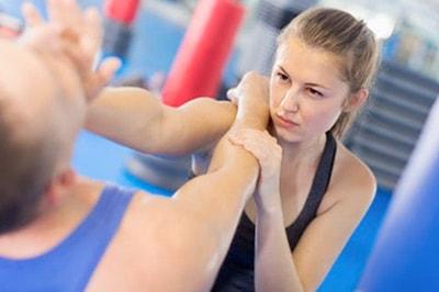 AGKK – Australian GoJu Kai Karate - Female Practicing Self Defence