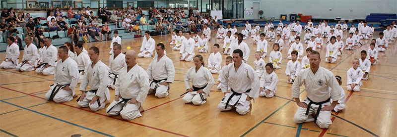 Karate Bow In Ceremony