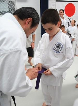 AGKK – Australian GoJu Kai Karate - Seiichi Fujiwara and Purple Belt
