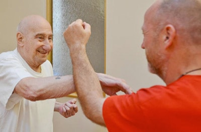 Seniors Learning Self Defence