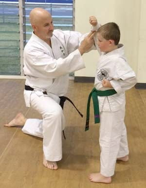 Student Undertaking Private Karate Lesson