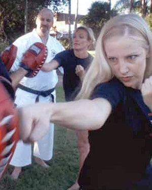 Woman Learning Self Defence