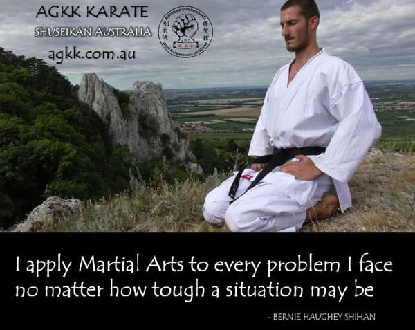 Karate Student Meditating