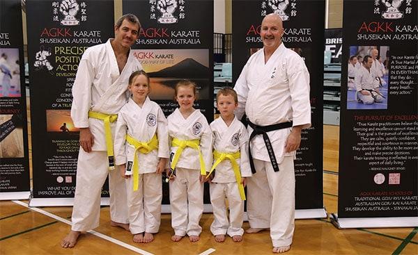 Families Training AGKK BRisbabe Northside Martial Arts