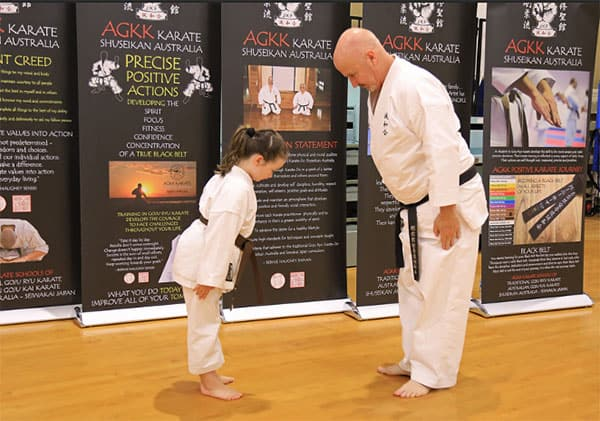 Bernie Shihan and Student Showing Respect