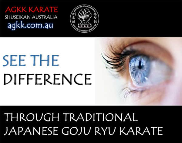 See the difference through traditional karate
