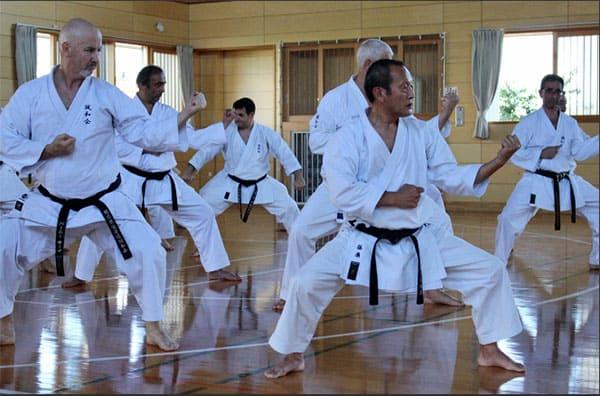 AGKK GOJU RYU KARATE SCHOOL - Seiichi Fujiwara Taking Class of Black Belts
