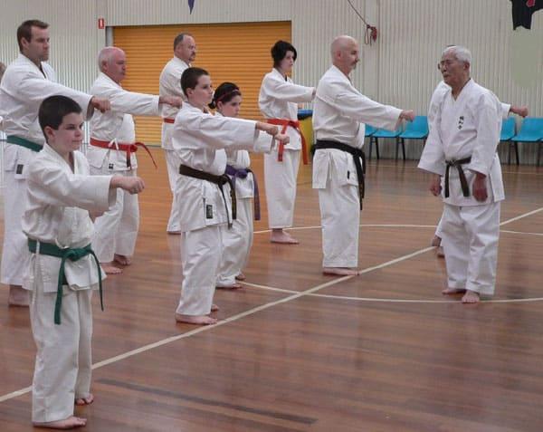 SHUJI TASAKI HANSHI 9TH DAN TEACHING at AGKK GOJU RYU KARATE SCHOOL